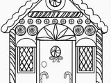 Christmas Gingerbread House Coloring Pages Printable Gingerbread House Coloring Pages for Kids