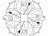Christmas Mandala Coloring Pages Snowmen Zentangles Coloring Book
