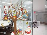 Christmas Murals for Walls Removable Christmas Window Home Wall Decal Mural Stickers Owls Gift
