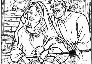 Christmas Nativity Coloring Pages for Adults Nativity Coloring Pages