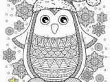 Christmas Penguin Coloring Pages Merry Christmas Jolly Penguin the Detailed Coloring Pages