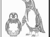 Christmas Penguin Coloring Pages Penguin Coloring Page