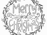 Christmas Printable Coloring Pages for Adults Merry Christmas Wreath Adult Coloring Pages Printable
