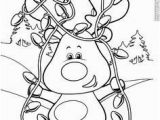 Christmas Reindeer Coloring Pages Reindeer Lights and Be Used as A Fastner Page with Snaps or