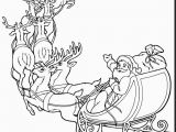 Christmas Reindeer Coloring Pages Unbelievable Santa Claus and Reindeer Coloring Pages with