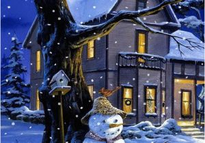 Christmas Scene Wall Murals Animated Christmas Wallpaper for Your Phone Sparkles and Snows Free