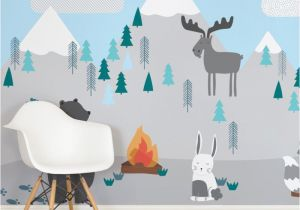 Christmas Scene Wall Murals Kids Mountain Scene Square Wall Mural