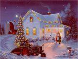 Christmas Scene Wall Murals Winter Farm Scenes Wallpaper