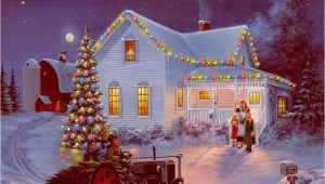 Christmas Scene Wall Murals Winter Farm Scenes Wallpaper