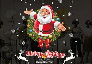 "Christmas Vinyl Wall Murals Amazon Dnven Santa Series 32"" W X 32"" H Merry"