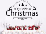 Christmas Vinyl Wall Murals Us $7 76 Off Wall Vinyl Decal Merry Christmas Holiday Vinyl Art Removable Happy New Year Quote Wall Sticker Home Decor Xmas Wall Art Ay1766 In