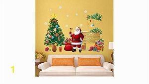 Christmas Wall Mural Plastic Amazon Wffo Wall Stickers Christmas Letter Decor Removable