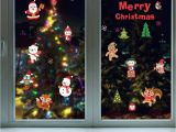 Christmas Wall Mural Plastic Diy White Snow Christmas Wall Stickers Window Glass Festival Decals