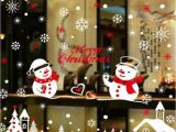 Christmas Wall Mural Plastic Merry Christmas Wall Sticker New Year S Eve Static Stickers Window