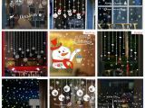 Christmas Wall Murals Uk Christmas Wall Stickers Santa Murals Reindeer Shop Window Stickers Decorated New Year Glass Snowflake Diy Home Decor Elegant Christmas Decorations