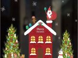 Christmas Wall Murals Uk Ubabamama Merry Christmas Background Diy Colorful Xmas Santa Claus Snowman Elk Wall Wall Sticker Cute Cartoon Background Wall Decoration Wallpaper for
