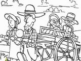 Chuck Wagon Coloring Page Clipart Pioneer Family Coloring Page