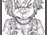 Chucky and Tiffany Coloring Pages 37 Best Scary Coloring Images