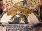 Church Murals for Baptistry Mosaico Di Cristo Su Una Lunetta Picture Of Kariye Museum the