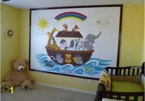 Church Nursery Murals Noah S Ark Paint by Number Wall Mural