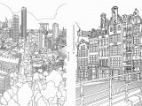 City Coloring Pages for Adults An Extremely Detailed Coloring Book for Architecture Lovers
