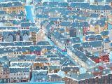 City Lights Wall Mural Mural Wall Art Decor Cartoon City 100 X 144 Inches
