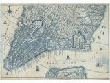 City Map Wall Mural Old Vintage City Map New York Wall Mural