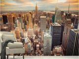 City Skyline Murals Wallpaper 3d Wallpaper Modern Sunset New York City Building Landscape Mural