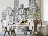 City Skyline Murals Wallpaper Maybe You Could Paint This City Skyline On the Wall with A Sharpie