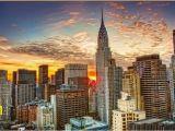 City Skyline Murals Wallpaper New York City Building Landscape 3d Stereoscopic Wallpaper 3d Wall