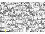 City Wall Murals Black and White City Seamless Pattern Balck White Wall Mural