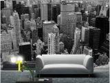 City Wall Murals Black and White City Skyline Wallpaper