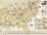 Civil War Wall Murals Battles Of the Civil War Wall Map 35 75 X 23 25 Inches