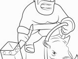 Clash Of Clans Coloring Pages Hog Rider Hog Rider Riding Boar Coloring Page Free Printable