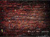 Classic Brick Wall Mural Red Brick Wall Backdrop Vintage Dark Old Bricks Printed