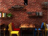 Classic Brick Wall Mural Vintage Faux Brick Wallpaper Pvc Grind Texture Delicate Wallpaper Roll Hair Salon Barbershop Restaurant Clothing Store Decor Wallpaper Digital
