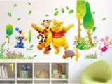 Classic Pooh Wall Mural Winnie the Pooh Nursery Wall Stickers Digital La S and