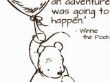 Classic Winnie the Pooh Wall Murals Classic Pooh Wall Decal Adventure Quote by Wildgreenrose On