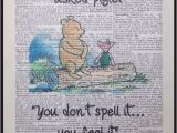 Classic Winnie the Pooh Wall Murals Details About Winnie the Pooh Quote Print Vintage Dictionary