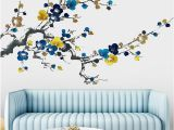 Clearance Wall Murals Chinese Style Ink Painting Plum Blossom Flowers Wall Stickers Living