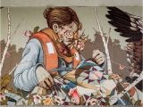 Cleveland Murals Refugees Wel E Mural by Heypatyeah In Cleveland Ohio