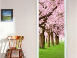 Closet Door Murals Sakura Door Murals Sticker Diy Living Room Bedroom Door Sticker New