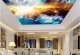 Cloud Murals Ceilings 3d Ceiling Murals Wallpaper Blue Sky and White Clouds Living Room