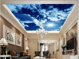 Cloud Murals Ceilings 3d Customized Wallpaper White Clouds Sky Ceiling Roof Wall Murals