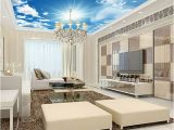 Cloud Murals Ceilings Ceiling Sky Wall Paper 3d White Clouds Nature Wall Mural Home