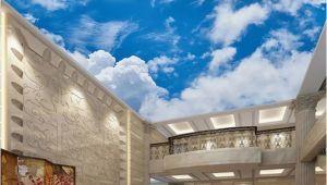 Cloud Murals Ceilings Custom 3d Wallpaper Ceiling Wall Mural Blue Sky and White