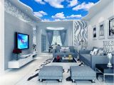 Cloud Murals Ceilings Custom Ceiling Mural Wallpaper 3d Blue Sky and White Clouds Living