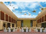 Cloud Murals Ceilings Wallpaper 3d Ceiling Blue Sky White Clouds Flying Pigeon Ceiling