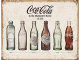 Coca Cola Wall Murals Coca Cola Coke Bottle Evolution Tinplate Metal Sign