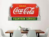 Coca Cola Wall Murals Drink Coca Cola Fountain Service Taps Wall Decal Deco Style